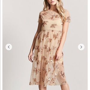 Forever21 Sequin Mesh Dress